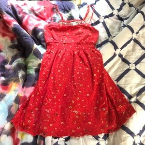Forever 21 Red Flower Dress